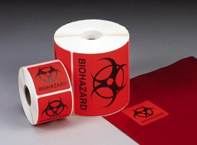 "Biohazard Labels, 4""x4"""