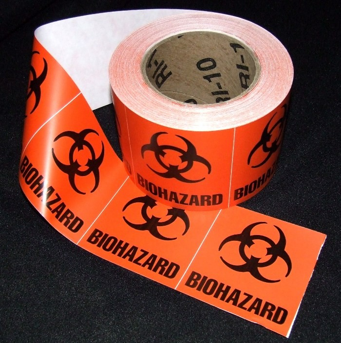"Biohazard Labels, 3""x3"""