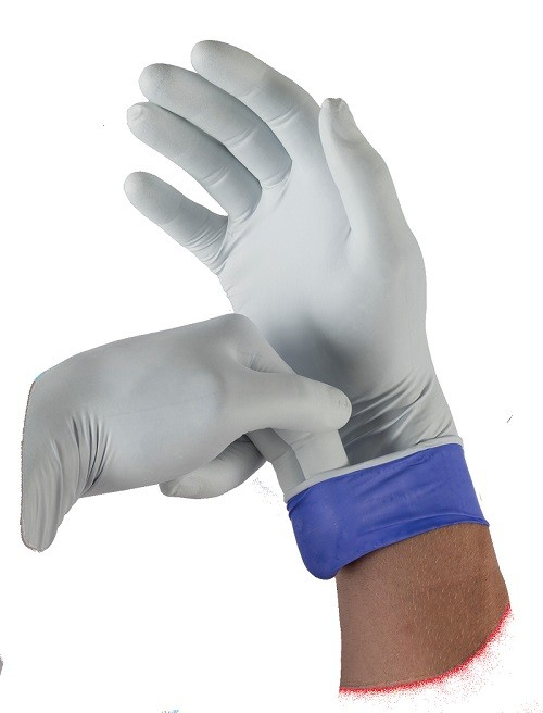 Nitrile Gloves, LifeStar EC, Extended Cuff, Large