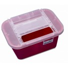 Sharps Container, 1 gal, Red (Non-Tortuous Path), case