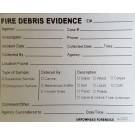 Fire Debris Label