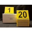 Photo Evidence Markers w/Metric Scale, Yellow (1-20)
