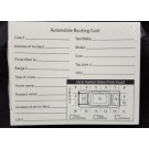 Automobile Latent Print Backing Cards, 4x5