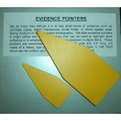 Evidence Pointers, Yellow, 20/pk