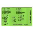 Traffic Plastic Formula Card