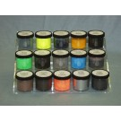 Fluorescent Latent Print Powder, Ultra-Black/Red, 2 oz
