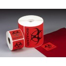 "Biohazard Labels, 2""x2"""