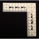 L-Scale, Plastic, Phosphrescent, Metric, 8cmx8cm