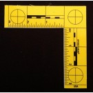 "L-Scale, Plastic, Fluorescent Yellow, Fractional, 3""x3"""