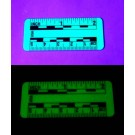 "Fractional & Metric Rules, 2"" & 5cm, Phosphorescent Plastic, 10/pk"