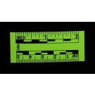 "2"" & 5cm, Adhesive-Backed, Fluor. Green Paper Rules**Special**"