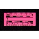 "2"" & 5cm, Adhesive-Backed, Fluor. Pink Paper Rules**Special**"