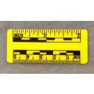 "Fractional and Metric Rules, 2"" & 5cm, Fluor Yellow Plastic, 10/pack"