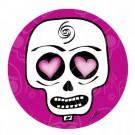 Rubber Coaster, Pink Skull