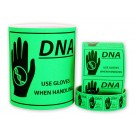 "DNA Caution Labels - Large (5"" x 6"")"