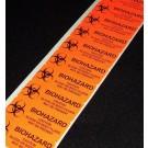 "Biohazard Labels, 1""x2 5/8"""