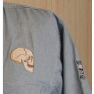 Golf Shirt, Embroidered Skull Profile on left chest, XXL