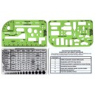 Pocket Template, Deluxe, Set of 4 w/case