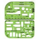 Pocket Traffic Template Set, Set of 2 w/case