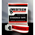Evidence Tape, Red & White, 108x1.25, 5 rolls/cs